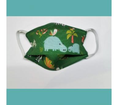 Masque en tissu lavable - 2 à 6 ans - motif savane - Bébés Bulles • Bébés Bulles • Bébés Bulles