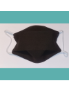 Masque en tissu lavable - Adulte - Marron chocolat - Bébés Bulles