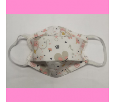 Masque en tissu lavable - 2 à 6 ans - motif la petite souris - Bébés Bulles • Bébés Bulles • Bébés Bulles