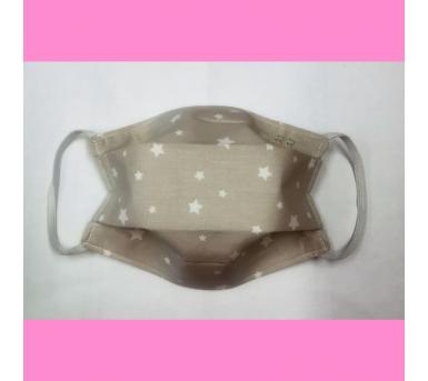 Masque en tissu lavable - 7 à 12 ans - motif étoile - Bébés Bulles • Bébés Bulles • Bébés Bulles
