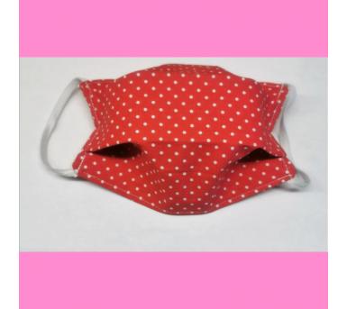 Masque en tissu lavable - Pastèque motifs pois • Bébés Bulles