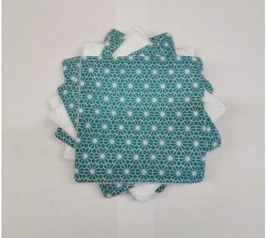 Lot de 10 lingettes lavables - Coton et fibre de bambou - BébésBulles • Bébés Bulles • Bébés Bulles