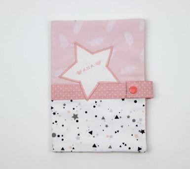 Protège carnet de santé - Thème Flamant Rose- personnalisé au prénom de bébé - Bébés Bulles • Bébés Bulles • Bébés Bulles
