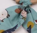 Anneau de dentition dinosaure en bois et tissu • Bébés Bulles