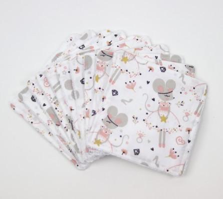 Thème la petite souris • lingettes lavables pour bébé • Bébés Bulles