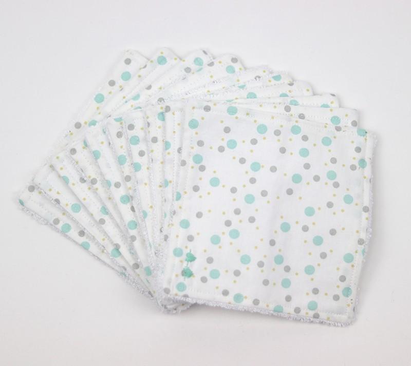 Lingettes lavables pour bébé - lot de 10 - Coton et fibre de bambou - Oeko tex - Bébés Bulles