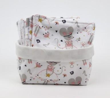Thème la petite souris • Panier et lingettes lavables • Bébés Bulles • Bébés Bulles • Bébés Bulles