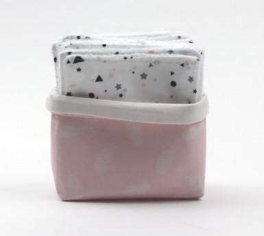 Thème flamant rose • Panier et lingettes lavables pour bébé et maman • Bébés Bulles • Bébés Bulles • Bébés Bulles