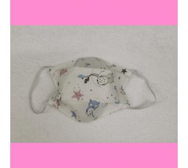 Masque en tissu enfant - motifs chouettes - bébés bulles • Bébés Bulles • Bébés Bulles