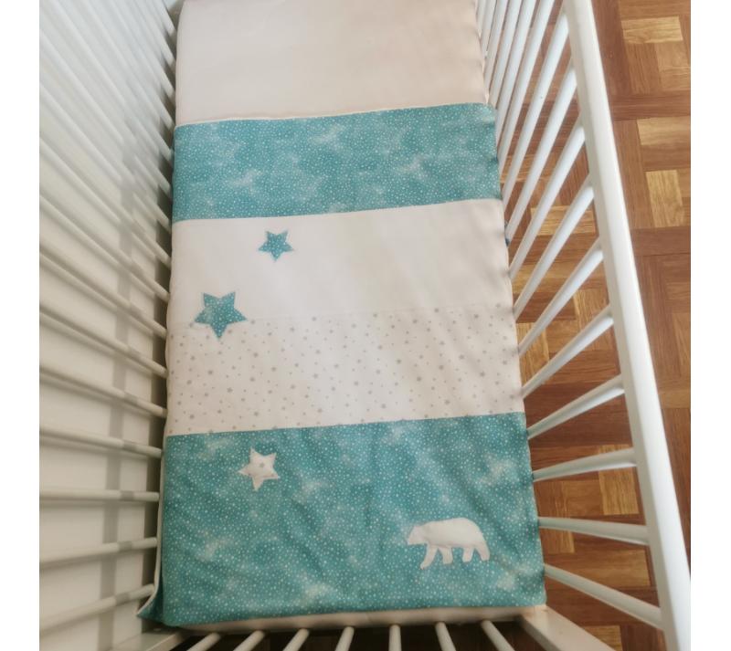 Couverture bebe - thème ours polaire - bébés bulles