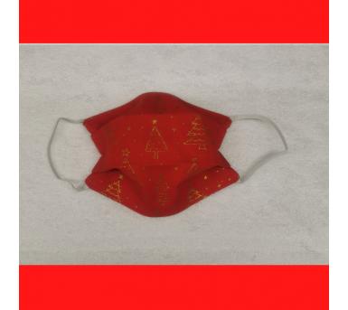 Masque de Noël en tissu - Imprimés de sapin - Bébés Bulles • Bébés Bulles • Bébés Bulles
