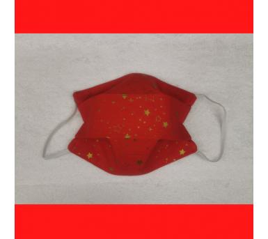 Masque de noël - motifs étoiles - Bébés Bulles • Bébés Bulles • Bébés Bulles